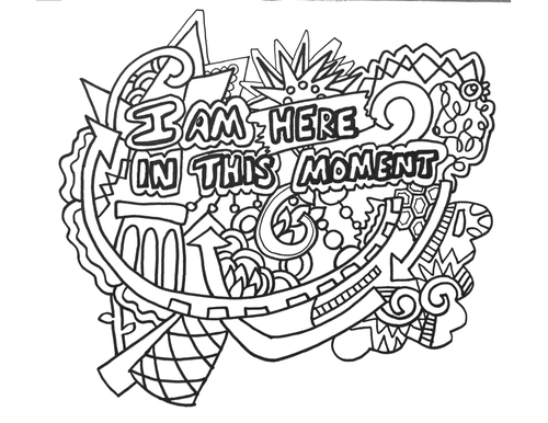 12 Affirmation Posters, Coloring Pages, Handouts by
