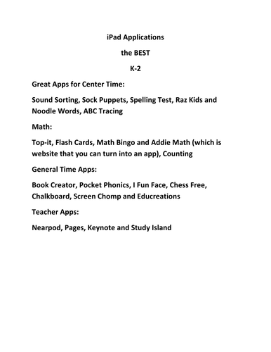 Best iPad Apps for K-5