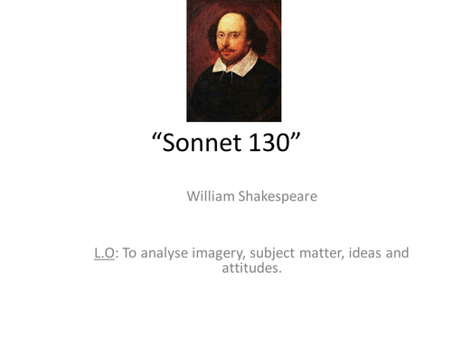 shakespeares sonnet 130 and unconventional love essay