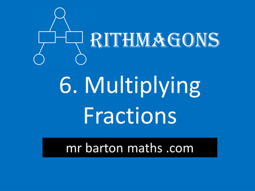 Arithmagon 6 - Multiplying Fractions