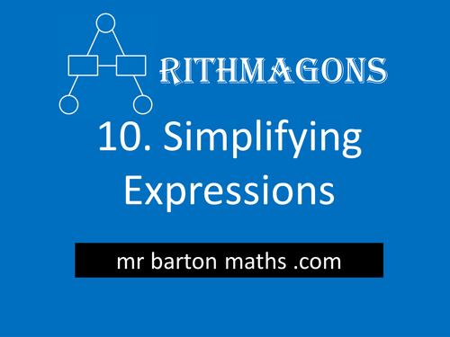 Arithmagon 10 - Simplifying Expressions