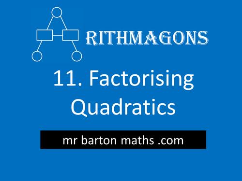 Arithmagon 11 - Factorising Quadratics