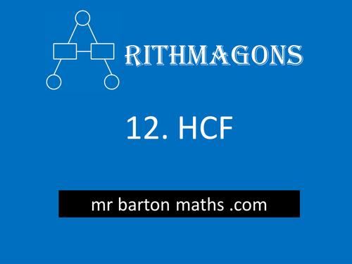 Arithmagon 12 - Highest Common Factor