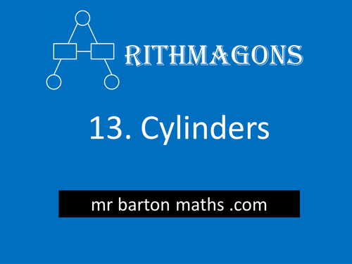 Arithmagon 13 - Cylinder Volume and Surface Area