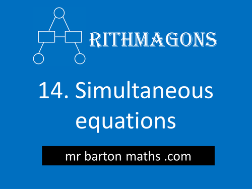 Arithmagon 14 - Simultaneous Equations