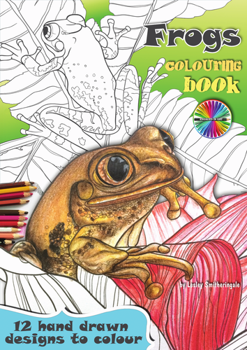 Frogs Colouring Pages E-Book