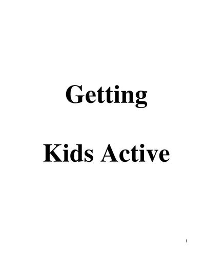 Getting Kids Active E-Book