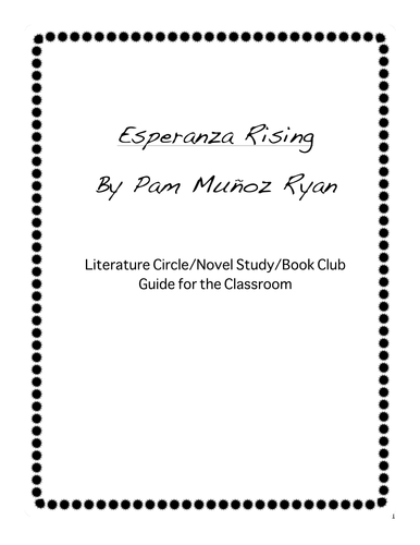 Esperanza Rising Novel Study Guide