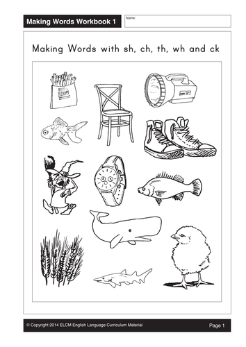 activity sheets for sh ch th wh ck words 33 pages by gmmd