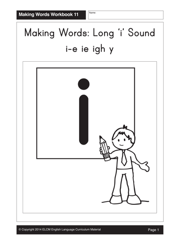 Long 'i': i-e, ie, igh, y (21 pages) by GMMD - Teaching Resources ...