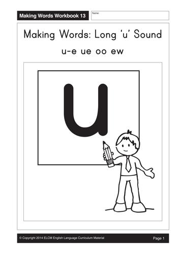 Long 'u:' u-e, ue, oo, ew (20 pages)