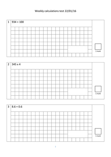 Year 6 Arithmetic Test By Gargs Teaching Resources Tes