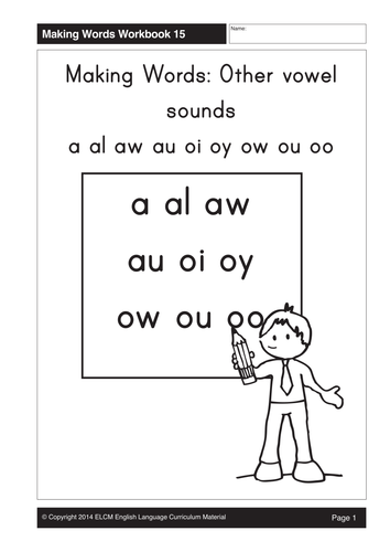 Other Vowel Sounds A Al Aw Au Oi Oy Ow Ou Oo 25 Pages By Gmmd