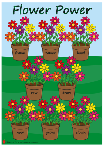 ow Phonics Game 'Flower Power'
