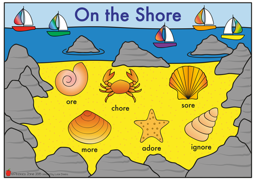 ore Phonics Game 'On the Shore'