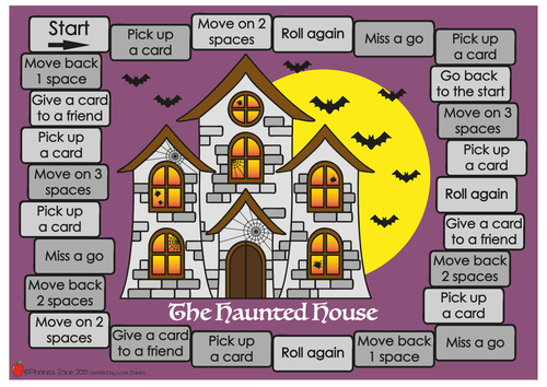 au (or) Phonics Game 'The Haunted House'