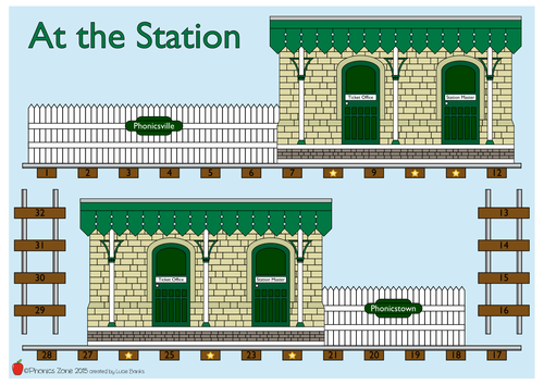 tion Phonics Game 'At the Station'