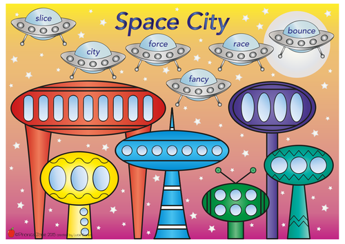 c (s) Phonics Game 'Space City'
