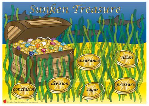 Phonics Game 'Sunken Treasure'
