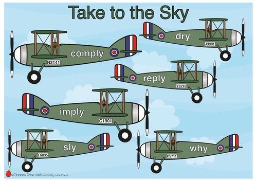 y (igh) Phonics Game 'Take to the Sky'