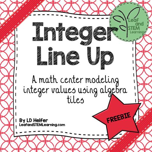 Integer Line Up Math Game