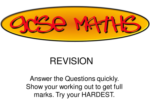 GCSE Maths Revision (Grade C)