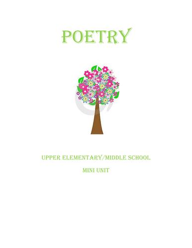 Poetry Mini Unit