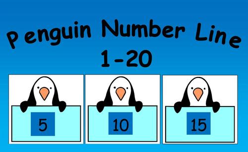 Penguin 1-20 Number Line