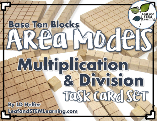 Area Models of Multiplication and Division Task Cards