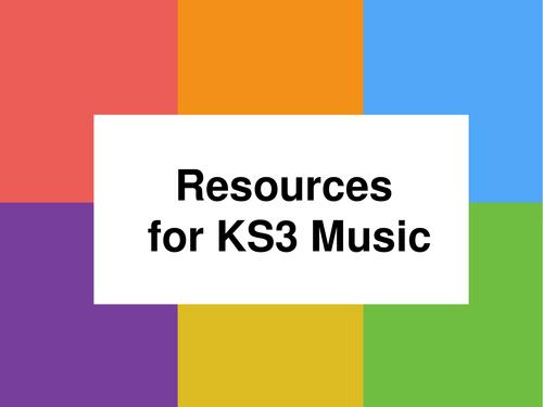 Resources at KS3 Music