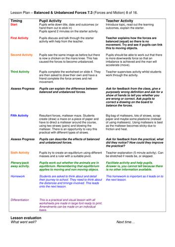 Grade 6-12: Complete Unit: Forces & Motion (7.3)