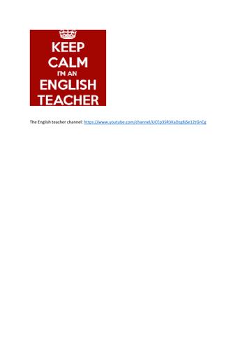 The English teacher channel