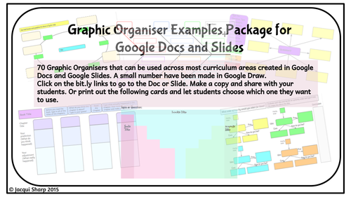 graphic organizers for reading writing topic made in google docs