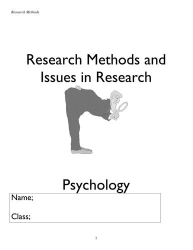 research methods workbook with activities