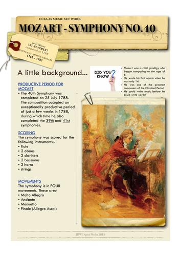 Mozart - Symphony No.40 - 1st Movt - Listening Guide