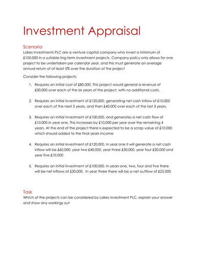 investment appraisal report template 28 images investment