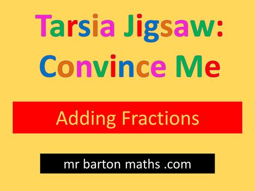 Tarsia Convince Me: Adding Fractions