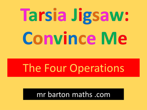 Tarsia Convince Me: Four Operations