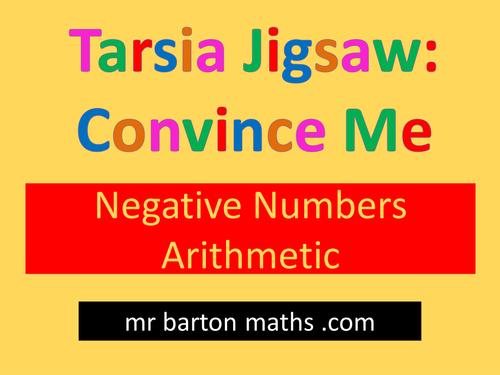 Tarsia Convince Me: Negative Numbers Arithmetic