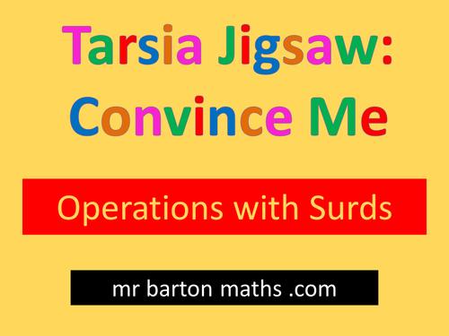 Tarsia Convince Me: Surds