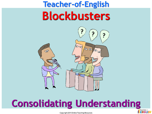 Blockbusters Plenary/Starter Activity  - PowerPoint presentation
