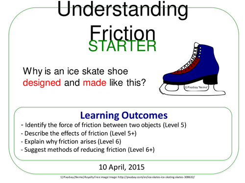 Grade 612 Understanding Friction Forces and Motion 73 by TRF23 – Friction Worksheet