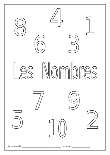 FRENCH ~ Les Nombres ~ Activity Booklet by labellaroma