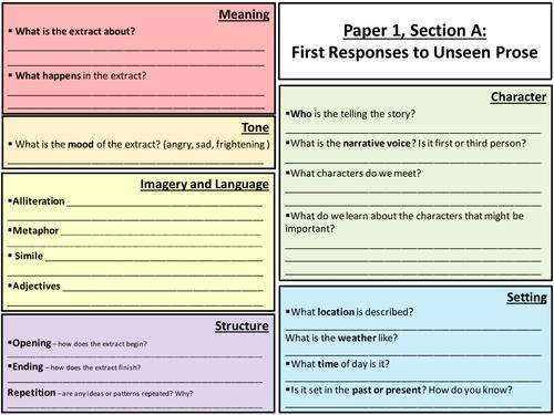 English language exam writing questions