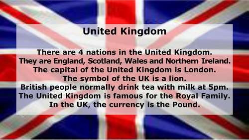 Nations of the United Kingdom