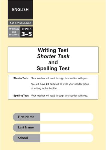 2003 2012 Writing SATs Tasks By Eric T Viking