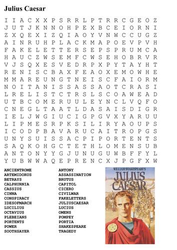 Julius Caesar Shakespeare Word Search By Sfy773 Teaching