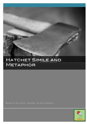 Hatchet ~ Simile & Metaphor Worksheet + Answer Key