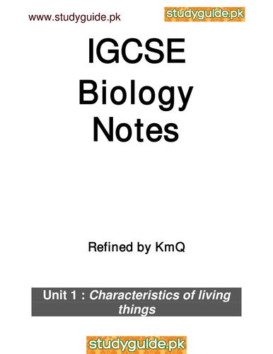 IGCSE Biology notes