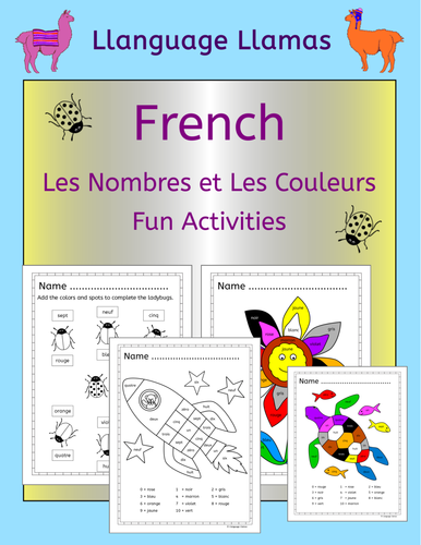 French numbers and colors